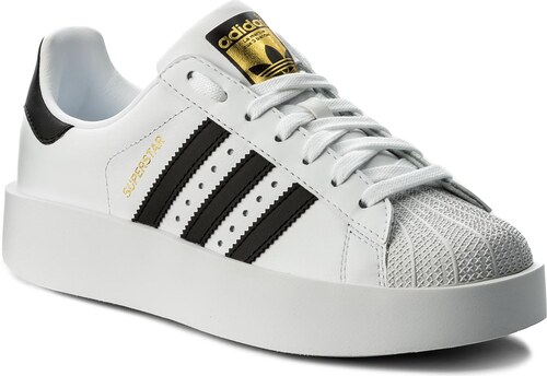 Cipő adidas - Superstar Bold W BA7666 Ftwwht Cblack Goldmt - Glami.hu 95d15daeda