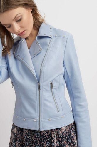 bf99254549 Orsay Eko-kožená bunda s vybíjaním a perličkami - Glami.sk
