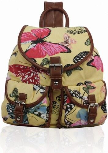 Miss LULU Batoh Retro Butterfly Dream - žlutý - Glami.cz b513024d0f