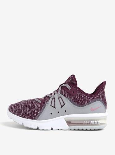 a074628178c Vínové dámské žíhané tenisky Nike Air Max Sequent 3 Running - Glami.cz
