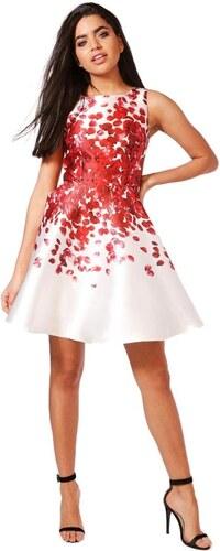 BOOHOO BETH Saténové kvetinové šaty - Glami.sk f6bd581050c