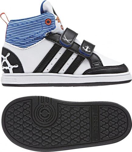 -50% Dětské kotníkové boty adidas Performance HOOPS CMF MID INF (Bílá    Černá   Oranžová) 31664c1b85