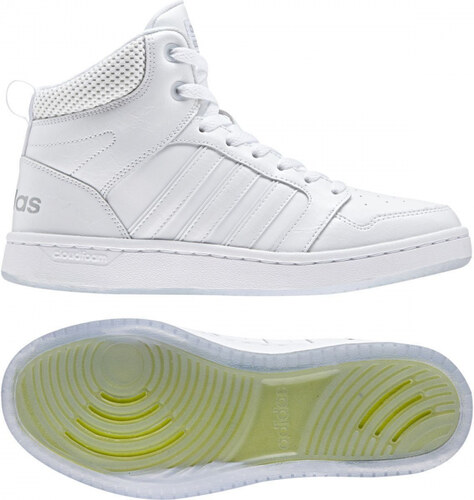 Dámské kotníkové boty adidas Performance CF SUPERHOOPS MID W (Bílá    Stříbrná) 082bca0bc8