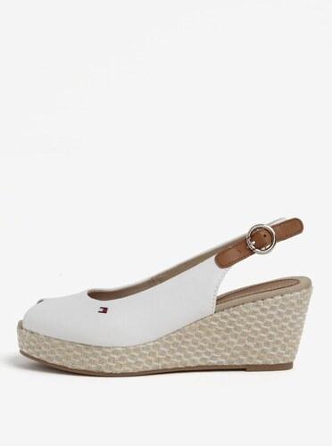 3f147c96a6a Biele dámske sandále na plnom podpätku Tommy Hilfiger - Glami.sk