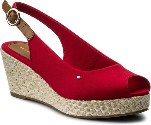 20bed2c0a64 Espadrilky TOMMY HILFIGER - Iconic Elba Basic Sling Back FW0FW02788 Tango  Red 611