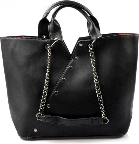 krásná černá kabelka na rameno jocelin Valeria 40024 - Glami.cz 2b624aeceac