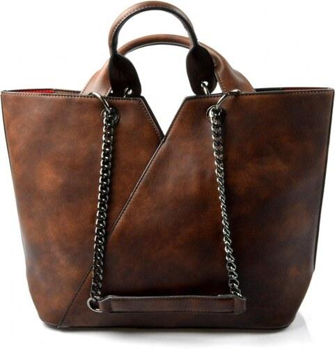 7e97724349 krásna hnedá kabelka cez rameno jocelin Valeria - Glami.sk