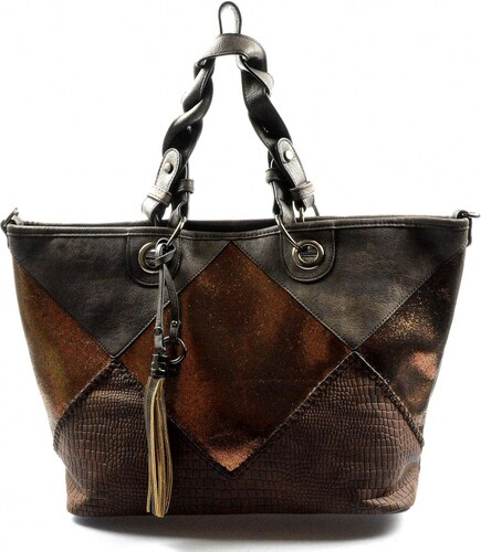 f6a7aad9f6 krásna hneda kabelka cez rameno charlize Valeria - Glami.sk