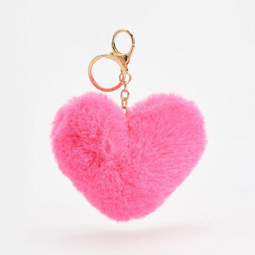 8d8cd8d1c2 Reserved - Bolyhos szív alakú függő - Rózsaszín - Glami.hu