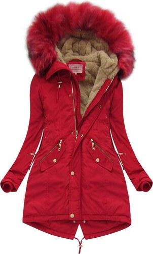 Amando Červená krátka zimná bunda (W136) 88ebc7b0939