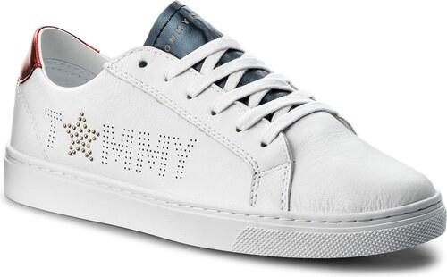 Sneakersy TOMMY HILFIGER - Tommy Star Metallic Sneaker FW0FW02349 Rwb 020 2a518a3c086