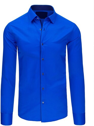 6766e8d9847d Pánska elegantná košeľa (dx1423) - modrá 07-dx1423 - Glami.sk