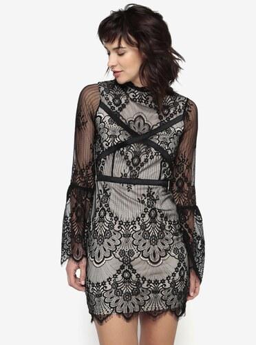 Černo-béžové krajkové šaty MISSGUIDED - Glami.cz d1859fa5636