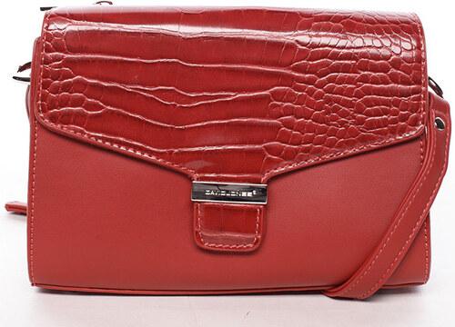 f1f38a587a David Jones Kabelky s dlouhým popruhem Luxusní dámská crossbody kabelka  červená - Hebbi David Jones