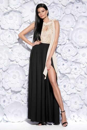 51080540396b BICOTONE Dámské dlouhé šaty Athéna černo zlaté - Glami.cz