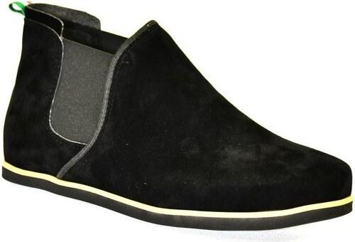 8de5225614 John-C Členkové tenisky Dámske čierne členkové topánky ORIOS John-C ...