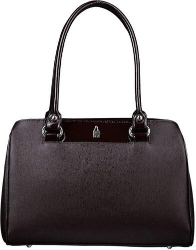 Luxusní hnědé kožené kabelky přes rameno Stanislava 31503 EA03 PL03  Wojewodzic 25cee9c4730