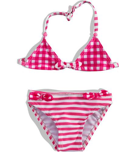 Dívčí dvoudílné plavky PEBBLESTONE růžové - Glami.cz cab6108921