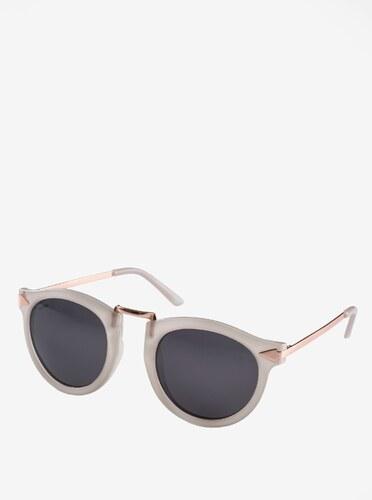 647ac702b Krémové dámske slnečné okuliare s pozlátenými detailmi Pilgrim Kinsley