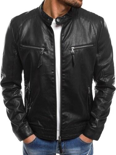Stylová černá bunda z eko kůže NATURE 5011 18 - Glami.cz a7b3404af82