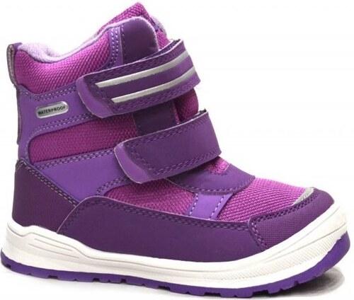ea01d6d1bdf7 Bugga Dievčenské zimné topánky s membránou - ružovo-fialové - Glami.sk