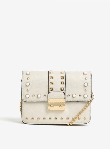 Krémová crossbody kabelka s detaily ve zlaté barvě Miss Selfridge ... 46b5be474b7
