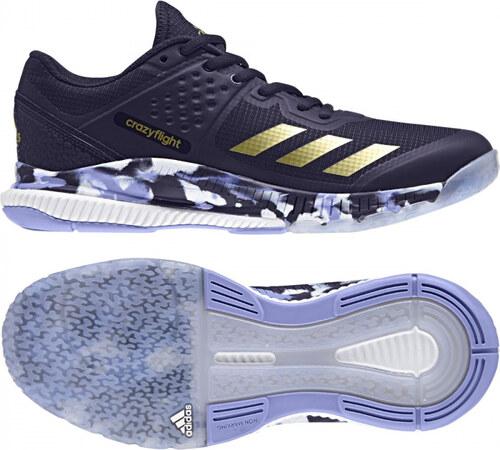 1f7b50318a1 Dámske sálové topánky adidas Performance crazyflight Bounce W (Fialová    Zlatá)