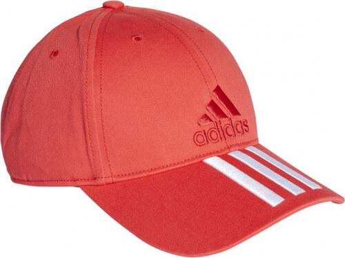 a2de3e4ac6e Kšiltovka adidas Performance 6P 3S CAP COTTO (Červená   Bílá) - Glami.cz