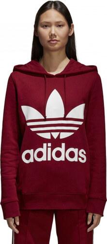 Dámská mikina adidas Originals TREFOIL HOODIE (Červená) - Glami.cz e1e352f33a