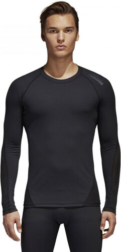af6a1bdb52a1 Nové Pánske funkčné tričko adidas Performance AlphaSkin SPR TEE LS (Čierna)
