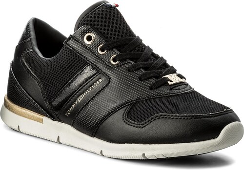 Sportcipő TOMMY HILFIGER - Light Weight Breathable Sneaker FW0FW02666 Black  990 2c96223bc2
