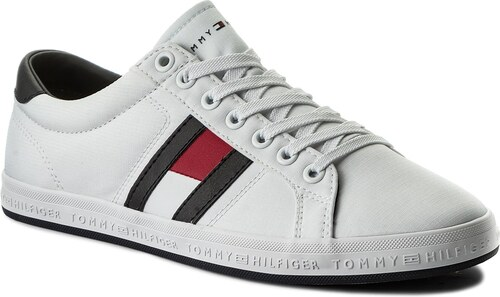 a01f7f7e60d9 Tenisky TOMMY HILFIGER - Essential Flag Detail Sneaker FM0FM01535 White 100