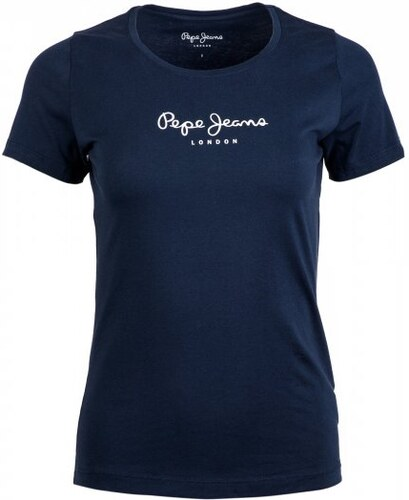 467c8a29118 Pepe Jeans dámské tričko New Virginia S tmavě modrá - Glami.cz