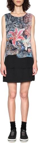 Desigual fekete ruha Aploma színes motívumokkal - Glami.hu 55867527ea