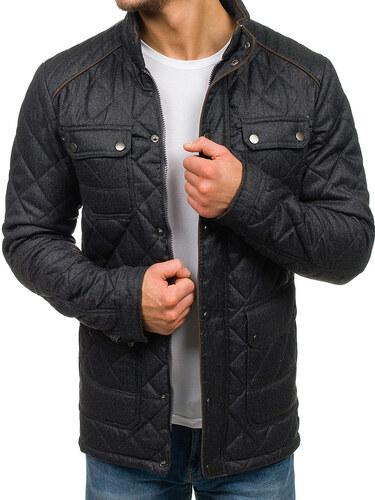 b3d0af1a9d7e Grafitová pánska zimná bunda Bolf 019 - Glami.sk