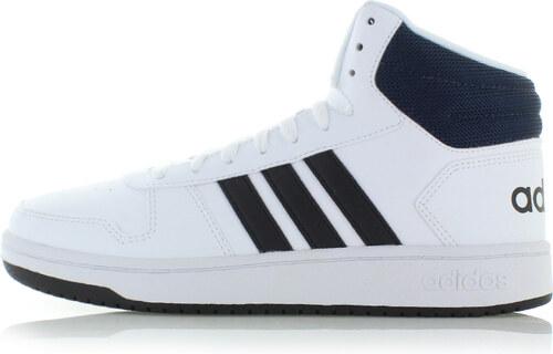 adidas CORE Pánské černo-bílé kotníkové tenisky Hoops Mid 2.0 - Glami.cz 24ee36d7f4
