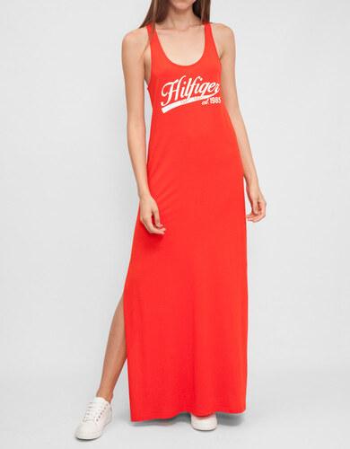 fc04e0d32a15 Tommy Hilfiger dámské červené maxi šaty Kiara - Glami.sk
