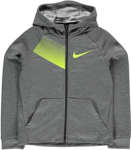 Nike Dri Fit Full Zip dětská mikina Boys Grey - Glami.cz d1a8641ec53