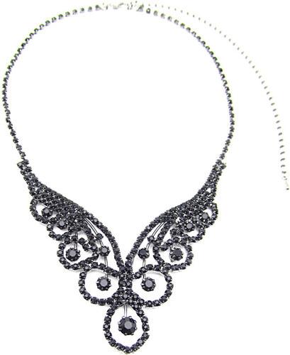 c3fec0e06 Elegantní černý dámský štrasový náhrdelník - Glami.cz