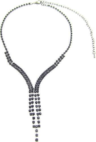 9f7d0d3ef Luxusní štrasový černý náhrdelník - Glami.cz