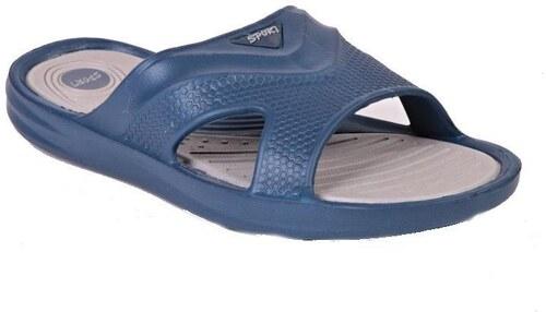 5a673648504 Pánské gumové pantofle Dark modré 43 - Glami.cz
