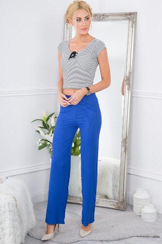 dc99f1812809 Amando Silno modré nohavice s vysokým pásom - Glami.sk