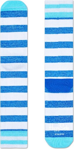 -20% Modro-bílé pruhované ponožky Happy Socks 94985bd327