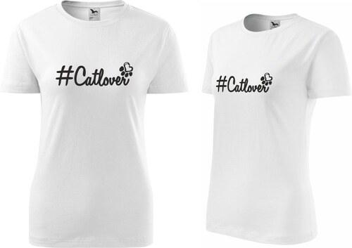 TRIKOO Dámské Tričko Catlover Hashtag - Glami.cz a2a5cac2ef