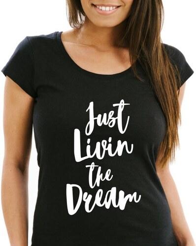 TRIKOO Dámské Tričko Just Livin the Dream - Glami.cz 7fdecafff5
