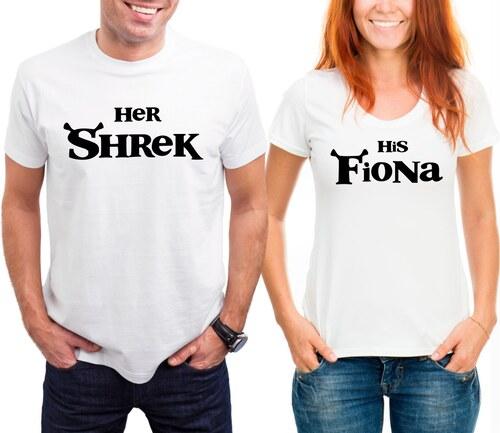 TRIKOO Trička pro Páry Shrek a Fiona - Glami.cz fd97c9231f