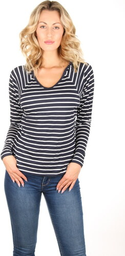 Tommy Hilfiger dámské pruhované tričko Modal s kapucí - Glami.cz 261249e019