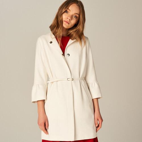 Mohito - Biely kabát so zvonovými rukávmi - Krémová - Glami.sk 91236bec7db