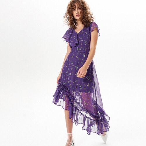 a245d4168c Reserved - Květinové šaty - Fialová - Glami.cz