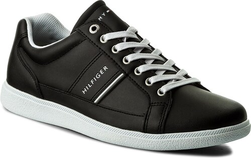 500a491bd0 Sneakersy TOMMY HILFIGER - Core Leather Cupsole FM0FM01478 Black 990 ...